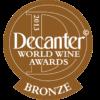 Decanter World Wine Awards 2013 bronze medal
