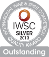 International Wine & Spirit Competition 2013 silver and outstanding