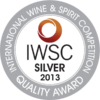 International Wine & Spirit Competition 2013 silver medal