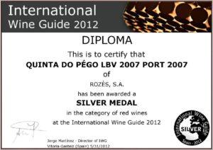 Porto LBV 2007 diploma