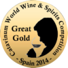 Great Gold at Catavinum World Wine & Spirits Competition 2014
