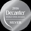 Decanter World Wine Awards 2016 silver