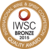 International Wine & Spirit Competition 2015 bronze
