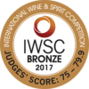 International Wine & Spirit Competition 2017 bronze
