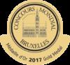 Gold at Concours Mondial de Bruxelles 2017