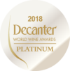 Platinum at Decanter World Wine Awards 2018
