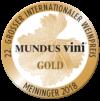 Mundus Vini summer 2018 Gold
